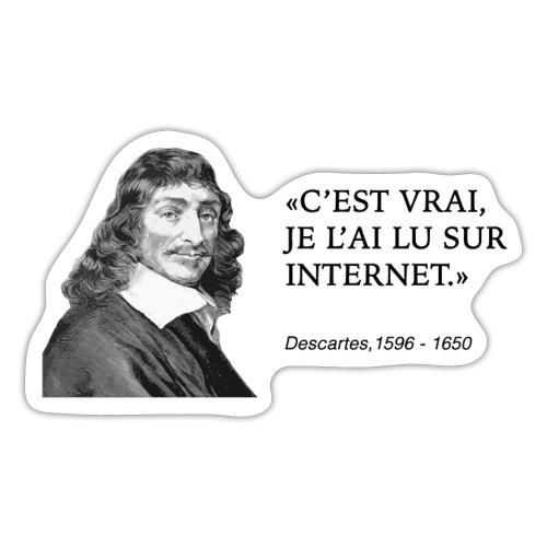 Descartes : je l'ai lu sur internet - Sticker