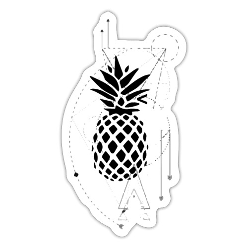 Kleiner Designer Ananas - Sticker