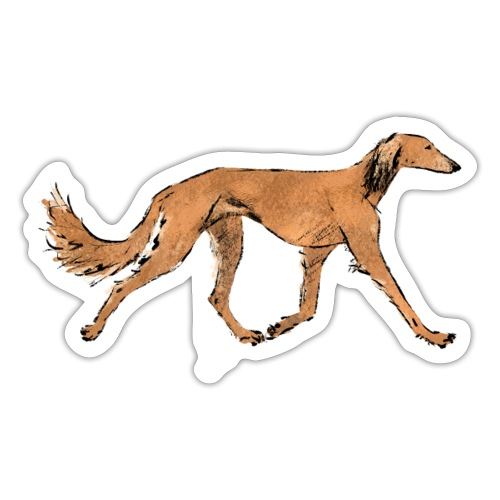 Roter Saluki - Sticker