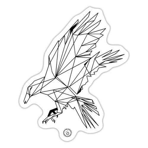 HUGIN/MUNIN - Geometrisk lineart - Sticker