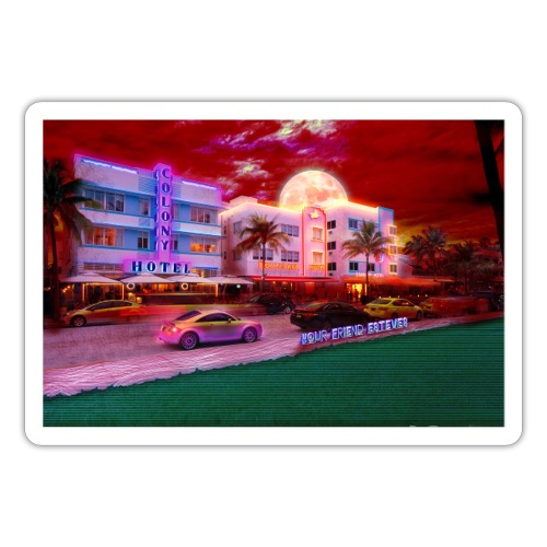 Miami Nights - Sticker
