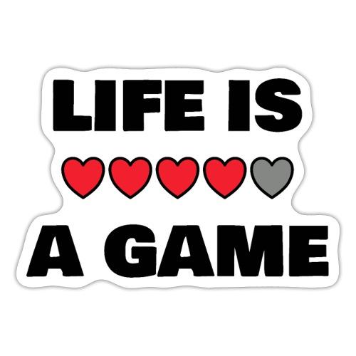life is a game, black print - Klistermärke
