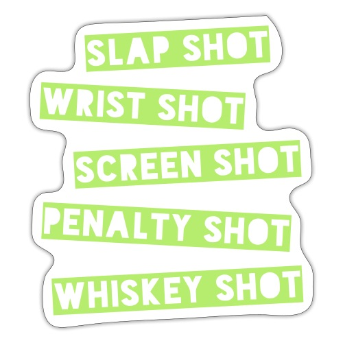 Hockey Shots - Sticker