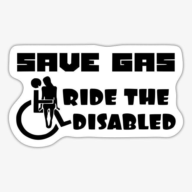 Bespaar brandstof rij mee met gehandicapten 001