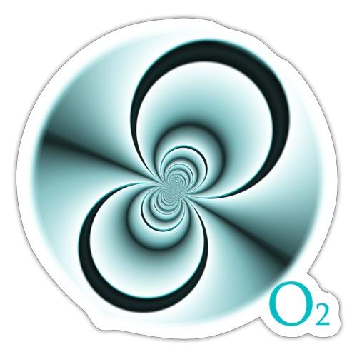 O2 djf - Pegatina