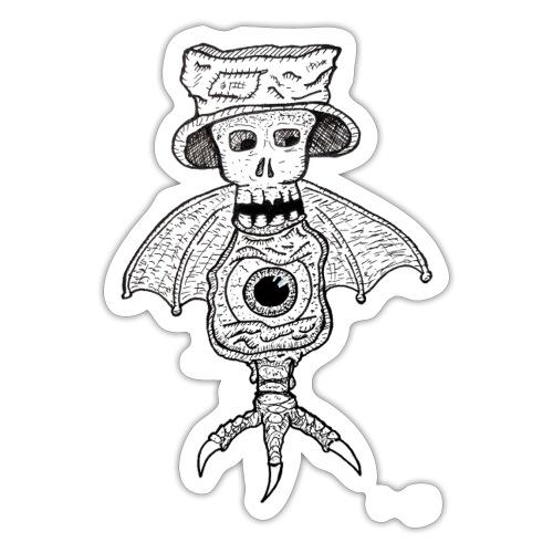 SkullBatEye - Autocollant