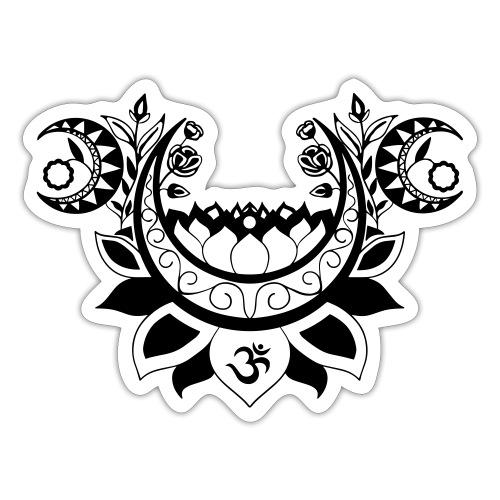 Moonlight Yoga Design Lotus Flower - Sticker
