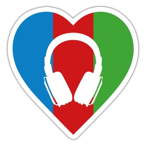 Silent Disco Love RGB | Headphone White - Sticker