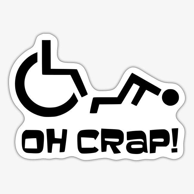 > Soms heb je pech en val je uit je rolstoel, crap