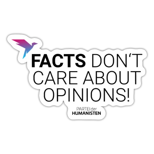 Facts vs. Opinions - Sticker