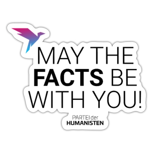 May the facts! - Sticker