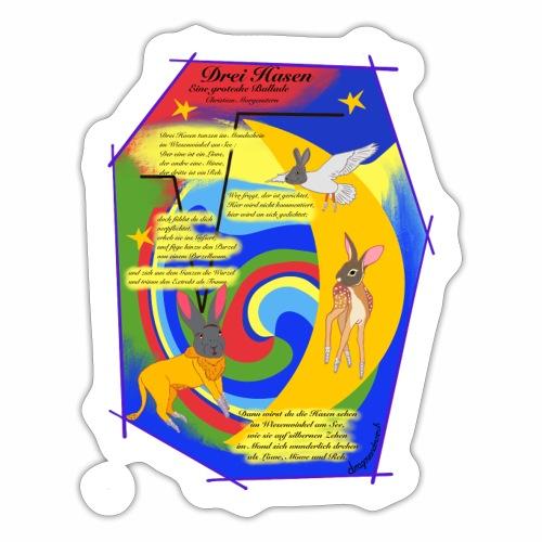 Drei Hasen (Christian Morgenstern) - Sticker