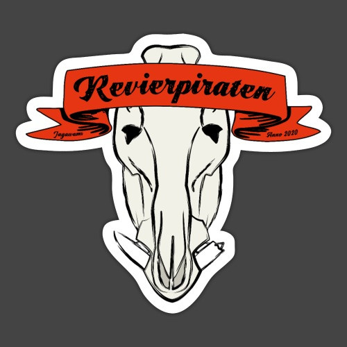 Revierpiraten rot - Sticker