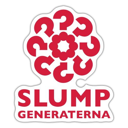 Slumpgeneraterna, logo röd - Klistermärke