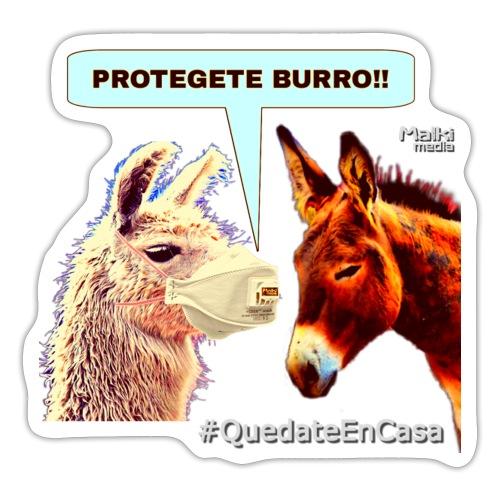 PROTEGETE BURRO - Pegatina