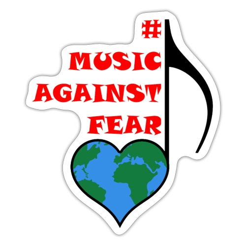 #MusicAgainstFear - Schwarz - Sticker