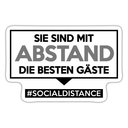 Sie sind mit ABSTAND die besten Gäste. sdShirt.de - Sticker