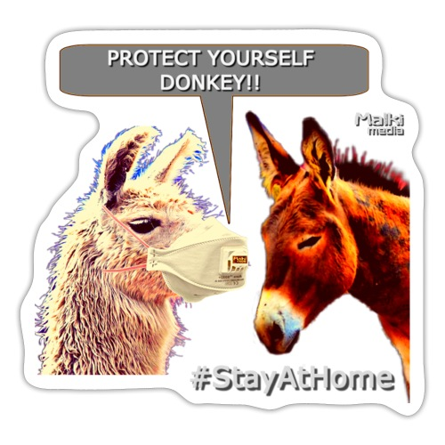 Protect Yourself Donkey - Coronavirus - Pegatina