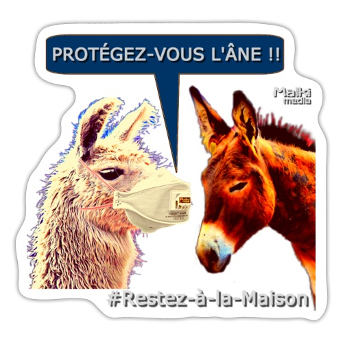 PROTEGEZ-VOUS L'ÂNE !! - Coronavirus - Sticker