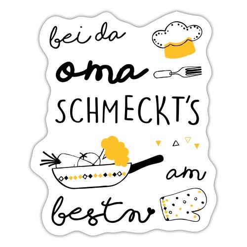 Vorschau: Bei da Oma schmeckts am bestn - Sticker
