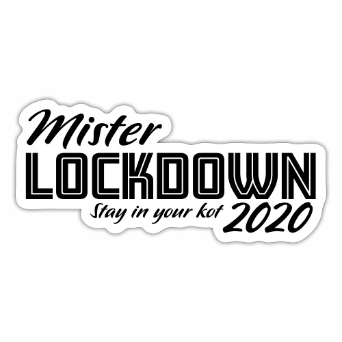 Mister Lockdown - Sticker