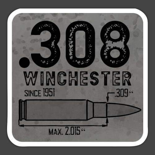 kaliber 308 quadrat - Sticker