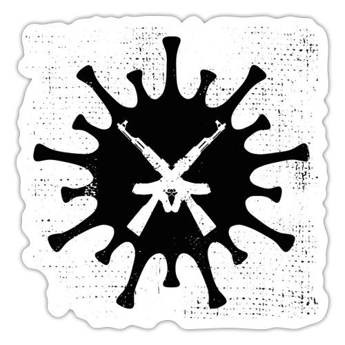 VIRUS mit gekreuzten AKs - Sticker
