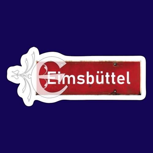 Hamburg- Eimsbüttel: Ortsschild mit Tattoo Initial - Sticker