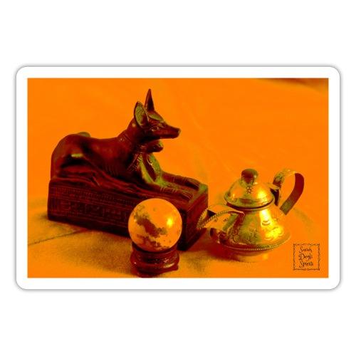 Anubi nel deserto - Adesivo