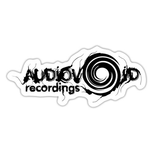 AudioVoid Black Logo - Sticker