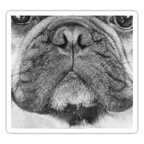 Französische Bulldogge Hundegesicht - Maske - Sticker