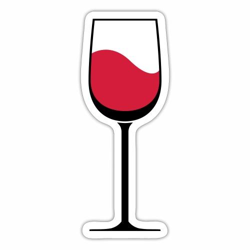 Glas Wijn - Sticker