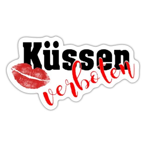 Küssen verboten - Kussmund - Mundschutz - Sticker