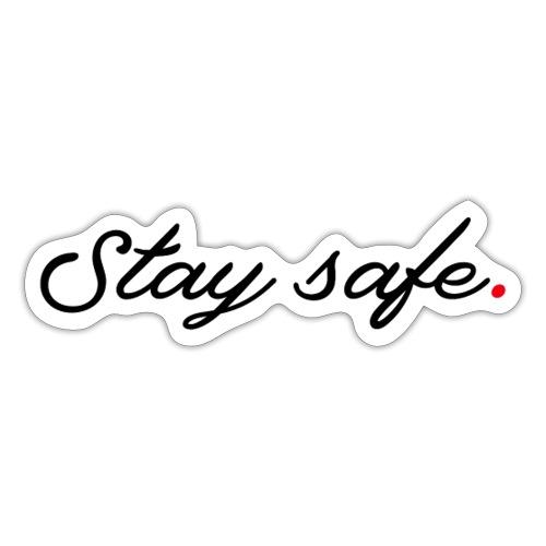 Mondmasker Blijf veilig - Sticker