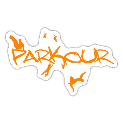 Parkour Orange - Sticker