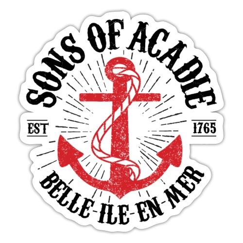 Sons Of Acadie Ancre de Marine - Autocollant