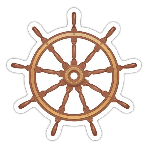 boat steering wheel Printdesign - Sticker