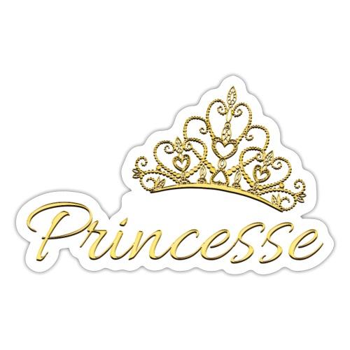 Princesse Or - by T-shirt chic et choc - Autocollant