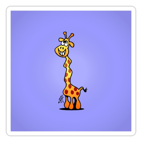 Giggling giraffe - Sticker