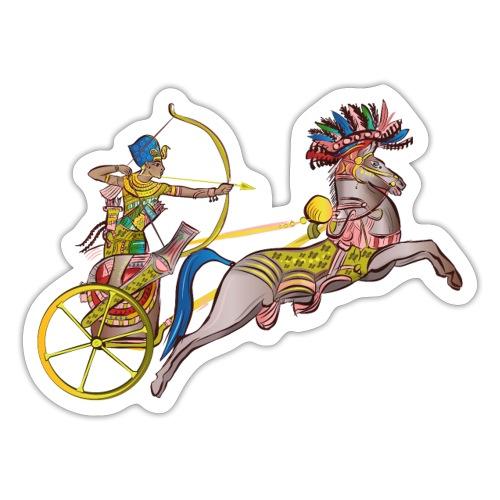 Pharao mit Streitwagen - Sticker