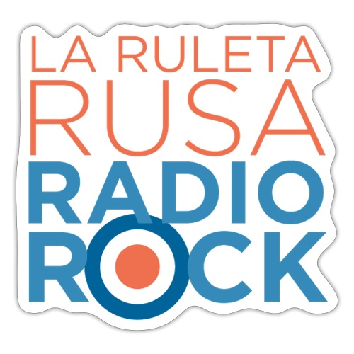 La Ruleta Rusa Radio Rock. Portrait Primary. - Pegatina