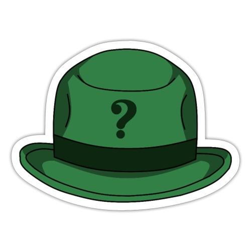 Grüner Rätsel Hut Riddler - Sticker