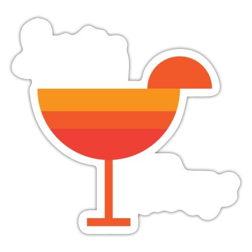 Aperitivo Estate 2020 con fetta di arancia - Adesivo