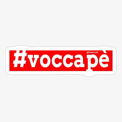 Voccapè - Adesivo
