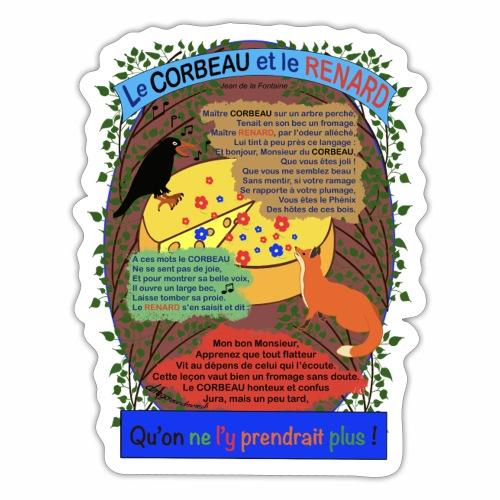 Le Corbeau et le Renard (Jean de la Fontaine) - Autocollant