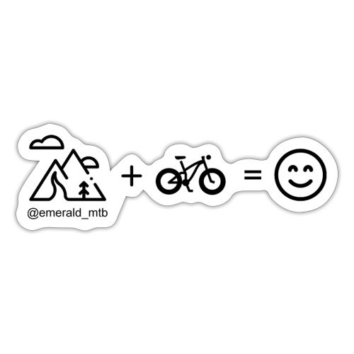 Mountains + Bike = Happiness - Sticker