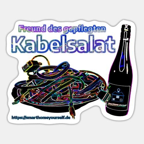 Freund des gepflegten Kabelsalat - Neon - Sticker