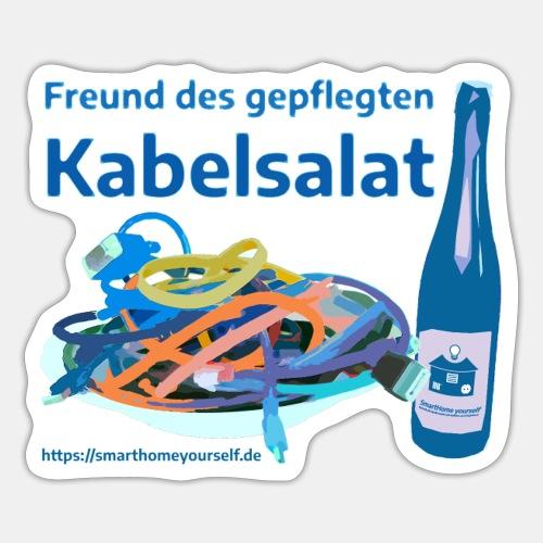 Freund des gepflegten Kabelsalat - Comic - Sticker