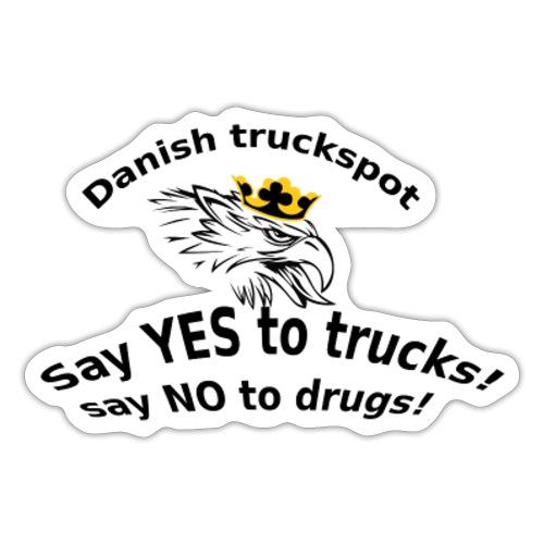 Danish truckspot sat yes to truck poster - Sticker