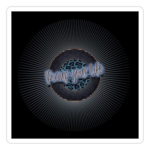 Pinup your Life - Leopard Blau - Sticker